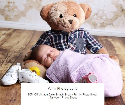 50% off Newborn Photo Shoot at Wink Photography