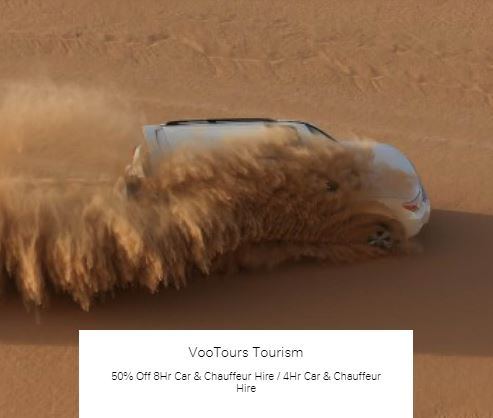 50% Off 4Hr Car & Chauffeur Hire at VooTours Tourism