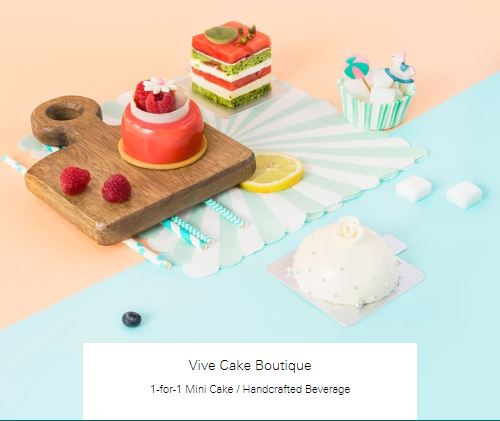 1-for-1 Mini Cake at Vive Cake Boutique
