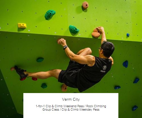 1-for-1 Rock Climbing Group Class at Verm City