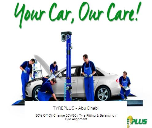 50% off Tyre Alignment at TYREPLUS - Abu Dhabi
