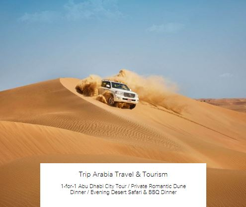 1-for-1 Private Romantic Dune Dinner at Trip Arabia Travel & Tourism