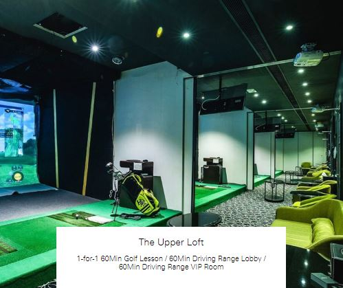 1-for-1 60Min Driving Range Lobby at The Upper Loft