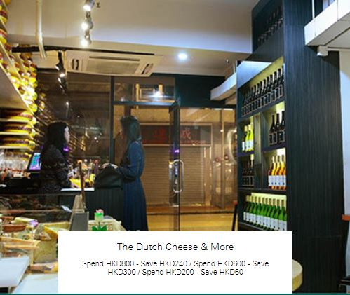Spend HKD200 - Save HKD60 at The Dutch Cheese & More