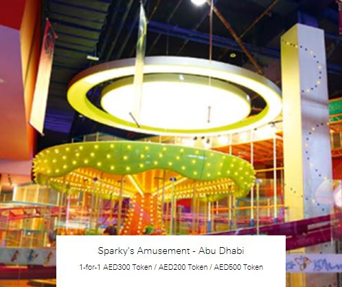 1-for-1 AED200 Token at Sparky's Amusement - Abu Dhabi