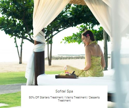 50% off Desserts Treatment at Sofitel Spa