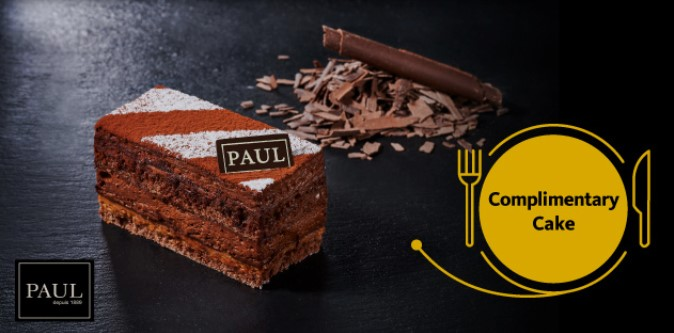 Get complimentary Cake from PAUL when you spend with Maybank Cards!