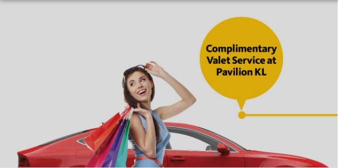 Complimentary valet service at Pavilion