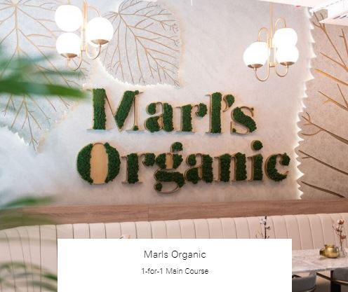 1-for-1 Main Course at Marls Organic