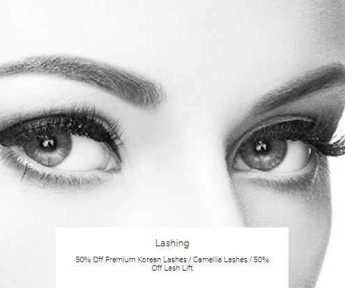 50% off Camellia Lashes at Lashing