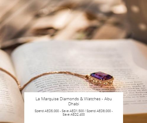 Spend AED8,000 - Save AED2,400 at La Marquise Diamonds & Watches - Abu Dhabi