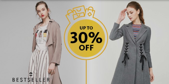 15% off normal-priced items on clothing & dresses categories at Vero Moda, JACK & JONES and ONLY