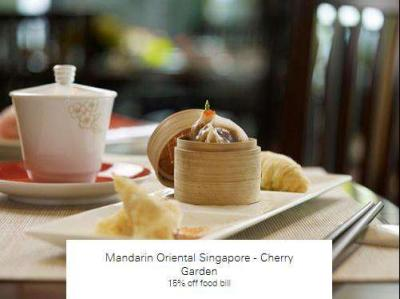 Mandarin Oriental Singapore - Cherry Garden 15% off food bill