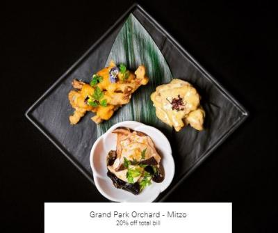 20% off total bill at Grand Park Orchard - Mitzo