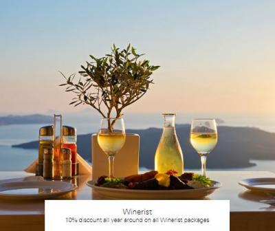 10% discount all year around on all Winerist packages at Winerist