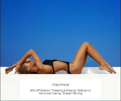 50% off Brazilian or Hollywood Waxing at Waxnmore